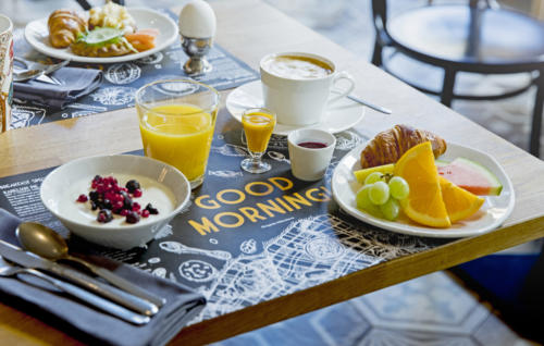 Breakfast everyday in downtown Helsinki at Hotel Lilla Roberts